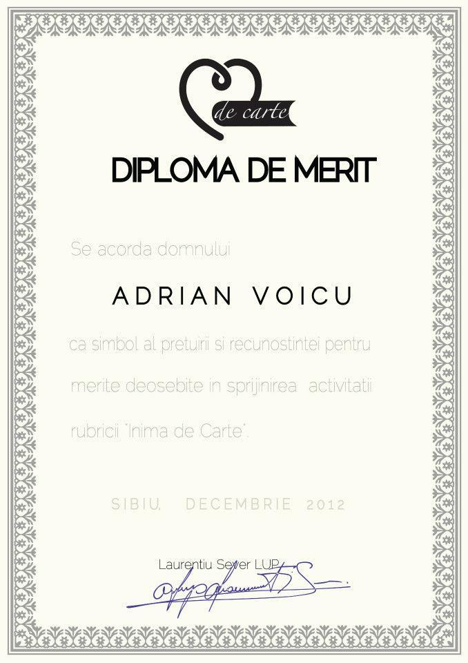 Diploma Inima de Carte